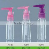40ml PET Plastic Lotion Spray Pump Bottle(hand washing, hair washing, cosmetic, perfume)