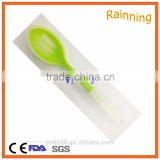 Hot sales product high quality silicone kitchen utensils slotted spoon with double colors