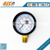 Painted steel case air pressure guages for air compressor