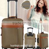 Hot Sale Fashion High Quality Decent Vintage Style Leather travel PU PVC Luggage Set and cheap suitcase In Wholesale