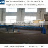 copper clad aluminum wire conduit annealing machine
