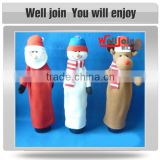 New type top sale christmas decoration fabric bottle holder