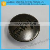 metal button logo customise 9mm brass snap button/Promotional metal button snap fastener snap button