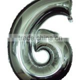 Mylar balloons number six