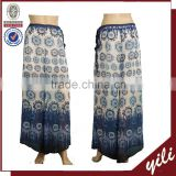 Digital printed chiffon fancy dress pants fat burning pant ladies loose pants