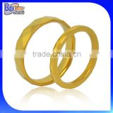 Gold plated stainless steel gold ring designs for couple,engagement gold rings for lovers