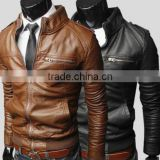 Biker Brando Mens Motorcycle Genuine Leather Style Hollywood Replica High Quality Leather Fashion Jacket For Men
