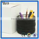 Creatice design plastic office tyre pen holder, promotional gift home resin tire pen holder