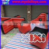 red black inflatable paintball bunkers for sale, T wall shape inflatable paintball bunkers