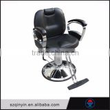 2015 hot sale artificial leather metal floor 360 degree swirl barber chair hydraulic pump