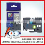 Cheap Price &High quality compatible brother P-TOUCH printer label tape black on white 24mm TZ2-251