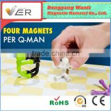 2015 high quality and hotsale magnetic products mini flexible Q-man with strong magnets