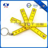 Hot sale 50cm mini 5 fold belt buckle plastic ruler for office                                                                         Quality Choice