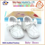 High Quality Genuine Leather Upper Material Rhinestone Baby Casual Shoes Wholesale Moccasins