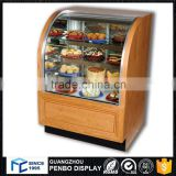 Hot sale model glass wooden metal material cupcake cake display case for sale                                                                         Quality Choice