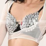 SWEGAl SGBDB13050 8color white sexy charming green popular belly dance tops