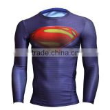Avengers Marvel Cartoon Super Heroes Compression Quick Dry Long Sleeve Shirt Base Layer Men Gym Clothing