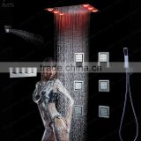 luxury bathroom accessories high flow shower head 6pcs body massage shower jets set shower mixing sanitry rainfall