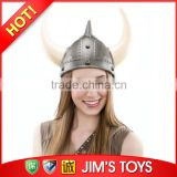 Warrior Plastic Silver Viking Helmet with Light Up Horns