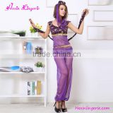 Drop shipping purple cheap ladies latin belly dance costume