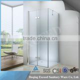 Classice design 8mm square tempered glass shower door 1 fixed glass 2 glass door                                                                                                         Supplier's Choice