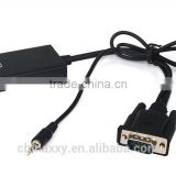 VGA To HDMI Output 1080P HD Audio TV AV HDTV Video Cable Converter Adapter