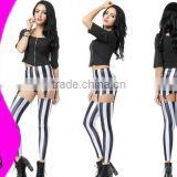 black and white suspenders galaxy leggings Zebra Stripe Suspenders OEM Best Price Wholesale