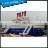 Hot sale high quality inflatable pirate ship yacht, inflatable castle titanic slide, inflatable combo slide                                                                                                         Supplier's Choice
