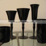 handmade black glassware sets/wine glass/tumbler glassware/glass cup