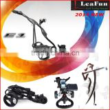 2014 LeaFun Electric Folding Pro Golf Trolleys Carts 3 Wheels Light Weight With New Accessory
