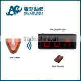 433.92Mhz,cheap church table buzzer with bill,call,cancel key,wireless service calling system