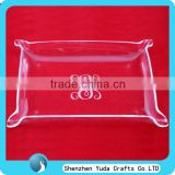 Special design acrylic serving tray wholesale, plexiglass serving tray, table top acrylic fruit tray