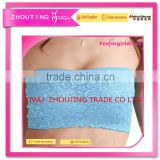Wholesale Lace Crochet Strapless Padded Top Brand Women Sexy Bra