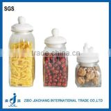 wholesale airtight glass storage jar canister with ceramic lid
