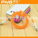 Wholesale PNGXE high quality fast charging flat reversible micro usb cable for iphone magnet usb cable