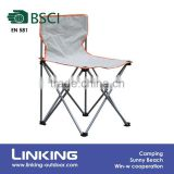 grey fishing chair with backrest