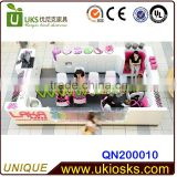 LAKA nail kiosk / nail bar table with 4 manicure + 2 pedicure / nail kiosk design for shopping mall