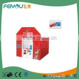 Fire Station Shape Children Furniture Sets Game Useful and Durable Playhouse For Kids From China Manufacture