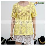 wholesale fashion embroidered ladies crochet Women Vintage crop top for dress