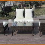 Concise Style Rattan Sofa Chair Set ,1PC two Seater Sofa and 2PCS Single Sofa With Table