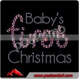 Baby's First Christmas Hotfix Rhinestone Templates Iron On Transfers Wholesale