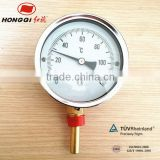 Hot sale bottom industrial bimetal thermometer