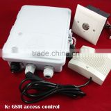 GSM SMS intelligent access controller, voice intercom and security alarm
