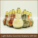 Light Bulbs Gourmet Spice Blends Shakers Gift Set | Glass Spice Jar Pairing | Gourmet Chef Gift Light Bulb Jar Decorations