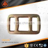 40mm forged one way lashing buckle yellow chromated one trip strap buckle