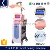 Improve Skin Texture 6 In 1 Multifunctional Colorful PDT Beauty Equipment Crystal Microdermabrasion Water Oxygen Jet Peel Machine Facial Oxygen Machine