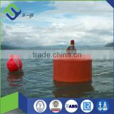 Offshore ocean surface marine EVA foam filled buoys anchor pendant chain through pick up mooring fishing