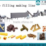 Nutritional puffed cereal core filling snack bar making machine processing line