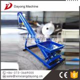 Material featured spiral screw conveyor