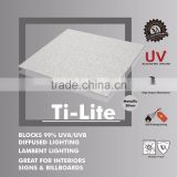 Opaque Lower Temp Plastic Polycarbonate Embossed sheet (Ti-Lite Metallic Silver Solid Embossed)